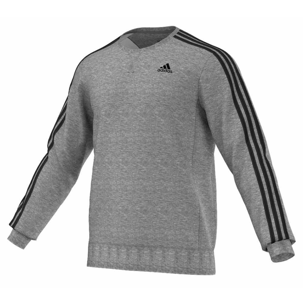 9a86ae029d48 adidas Essential 3 Stripes French Terry Crew