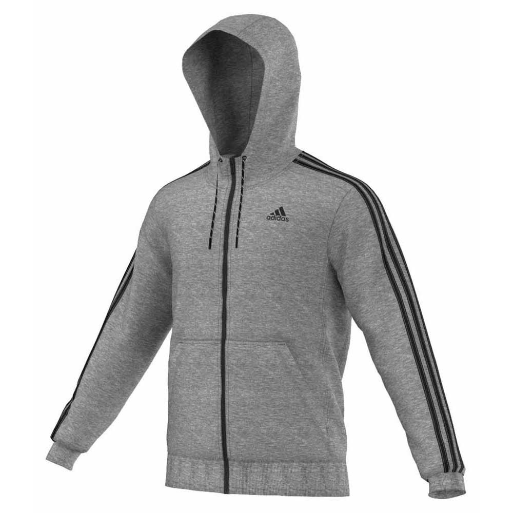 adidas Essential 3 Stripes Full Zip Hoodie