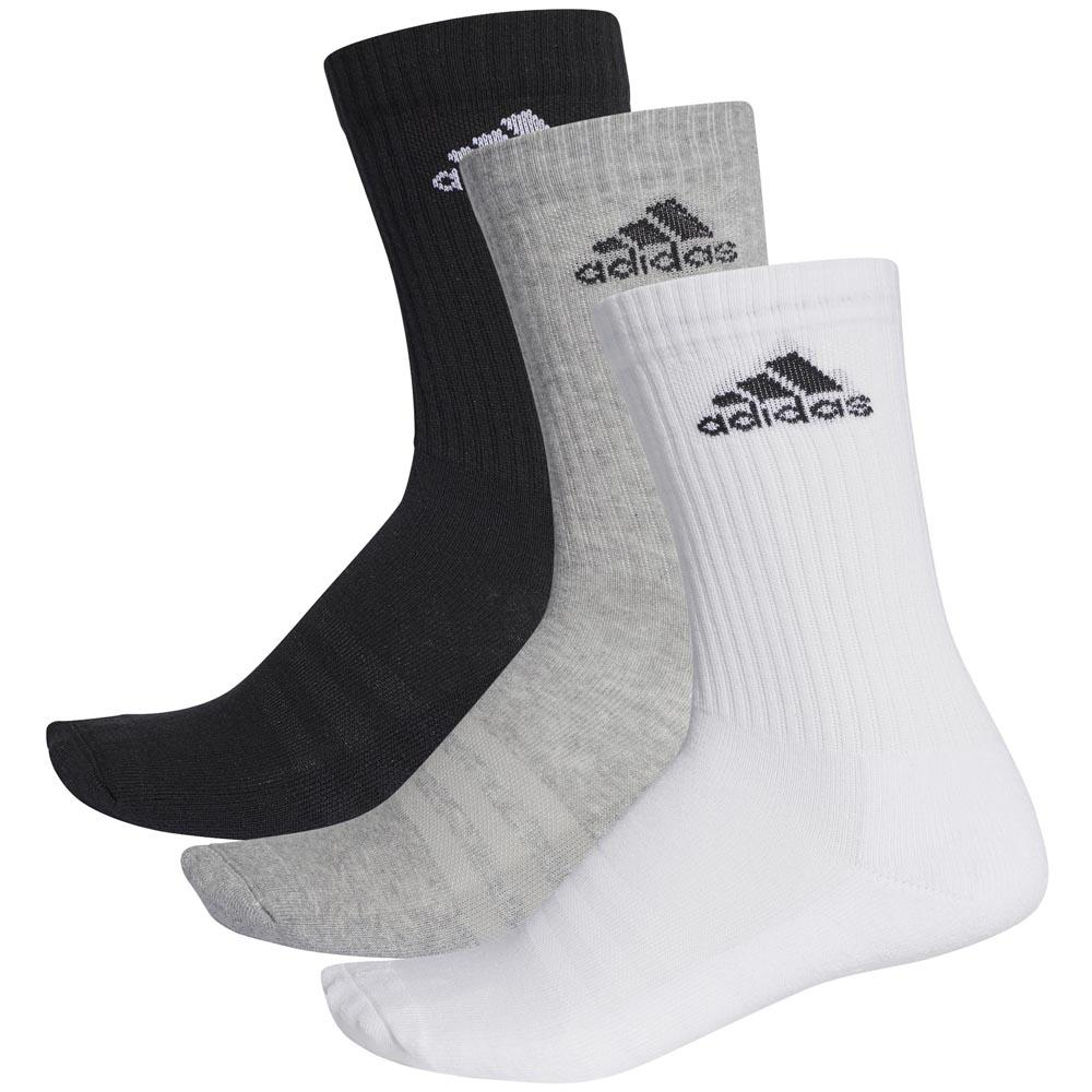 adidas 3 Stripes Performance Crew Half Cushioned 3 Pair