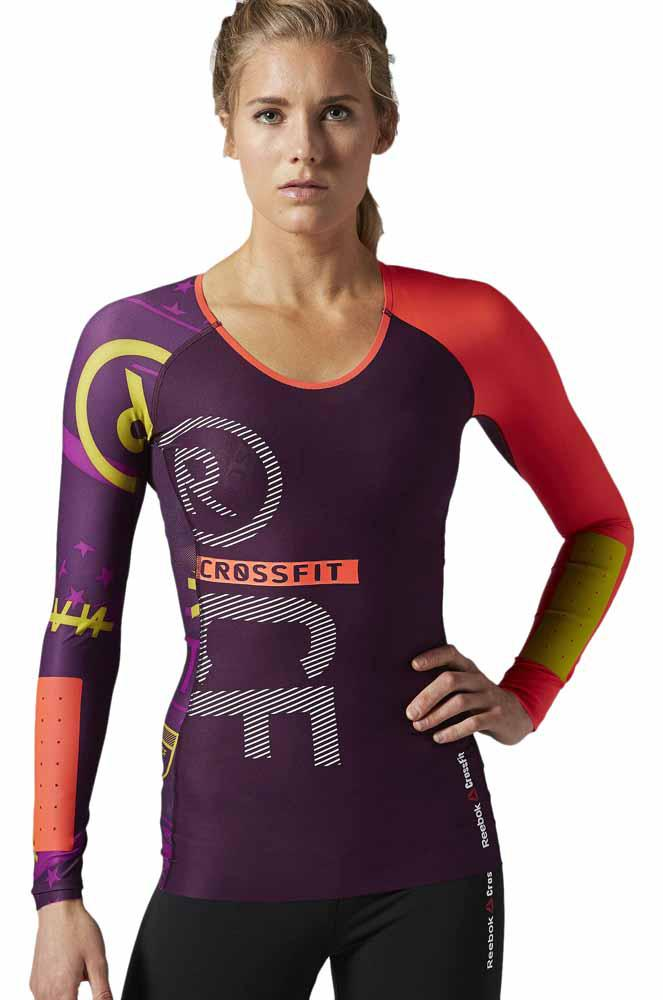 reebok crossfit reebokcf pwr5 compression l s top fierce