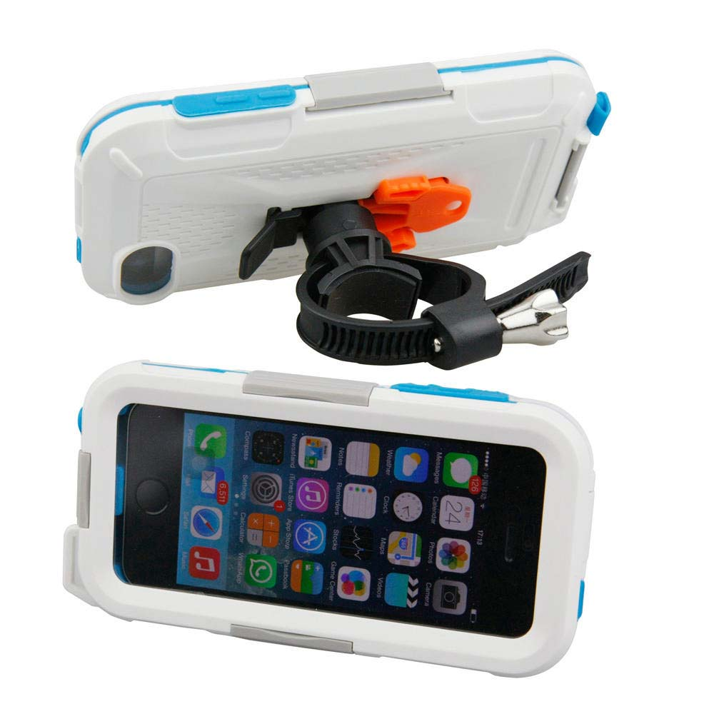 Armor-x cases All Weather Bike Bar Mount for Iphne 5 White