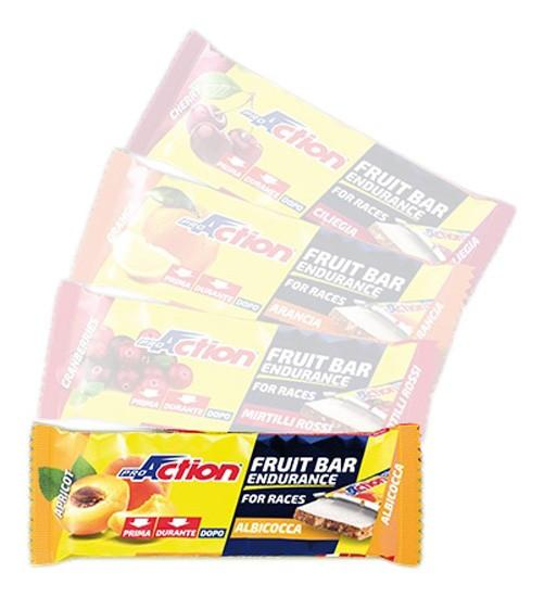 Pro action Fruit Bar Apricot 40 g x 24 Units