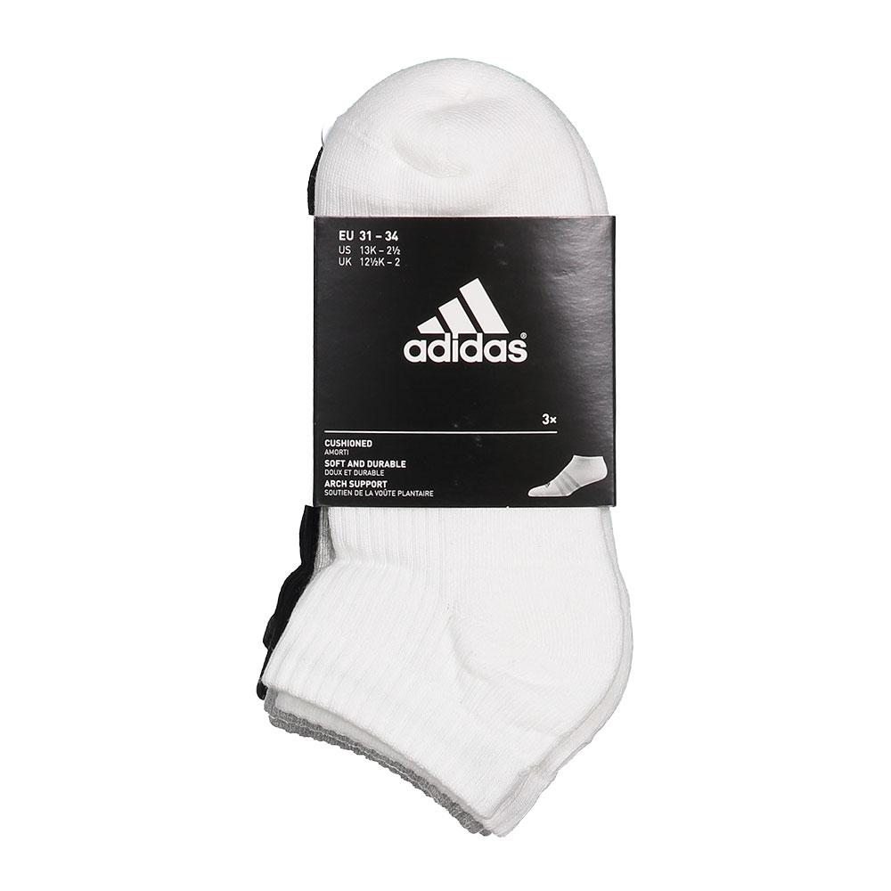 Adidas 3 Stripes Performance No Show Half Cushioned 3 Pairs