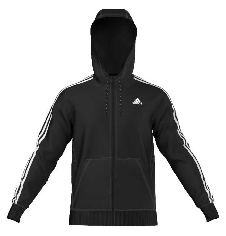 Adidas striped hoodie