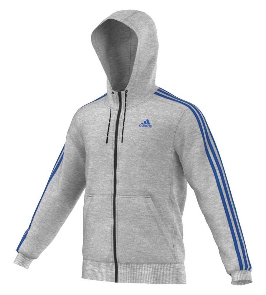 brand new a4025 4fa38 adidas Essential 3 Stripes Full Zip Hoodie, Traininn