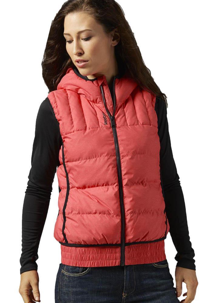 Reebok women's ssg padded jacket red