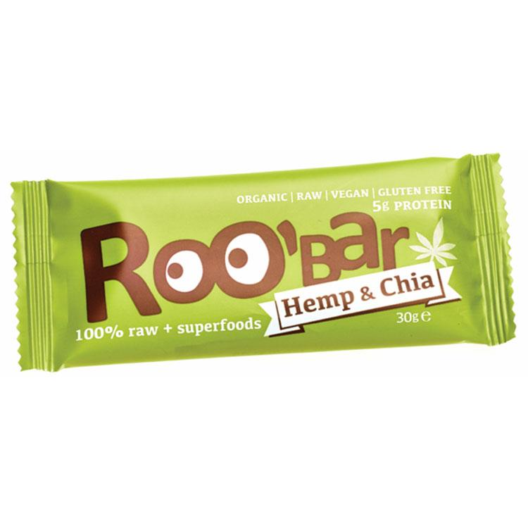 Roo´bar Raw Energy Bar Hemp Protein And Chia 30 G