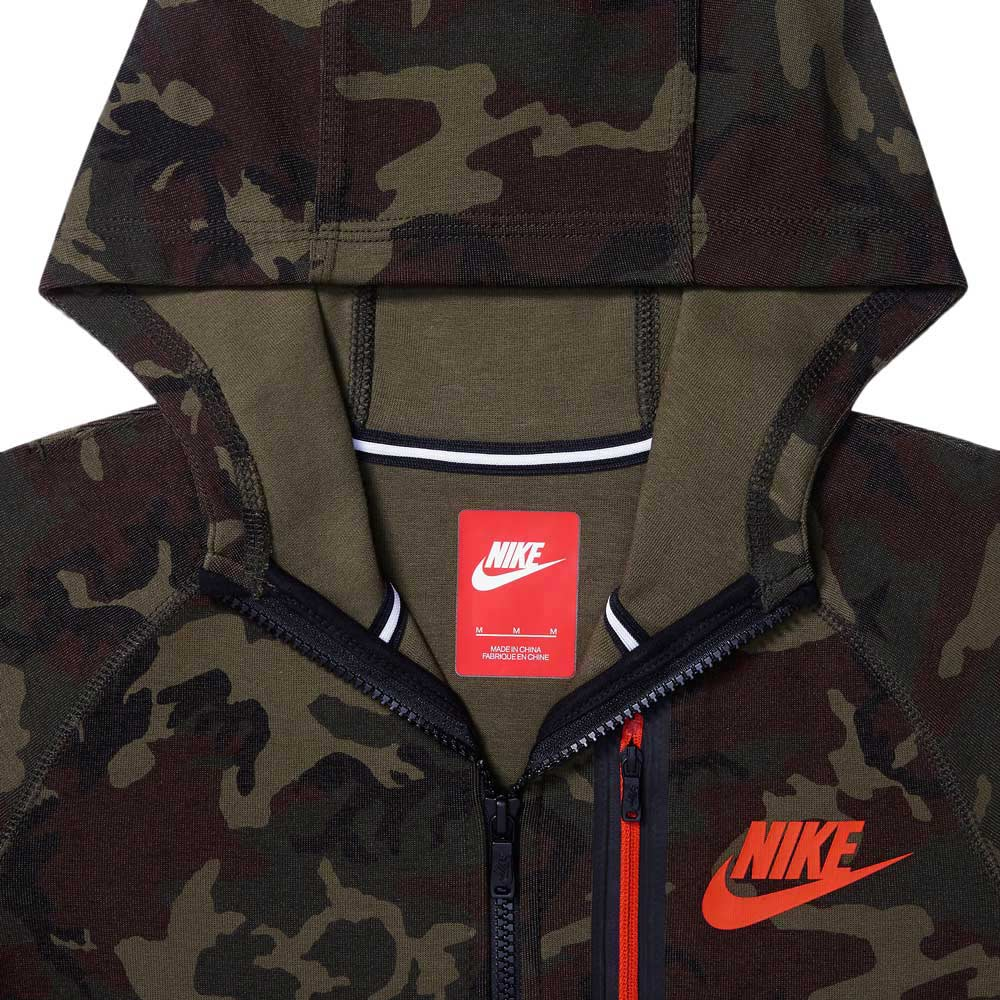 c041e1230468 nike tech fleece hoodie kids brown