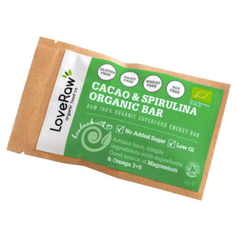 Loveraw Bar Cocoa And Spirulina 48 g x 12 Units
