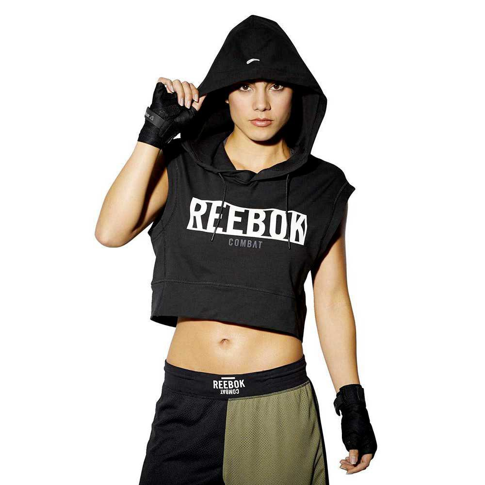 Reebok Combat Train Like A Fighter Sleeveless Hoody buy and offers ...