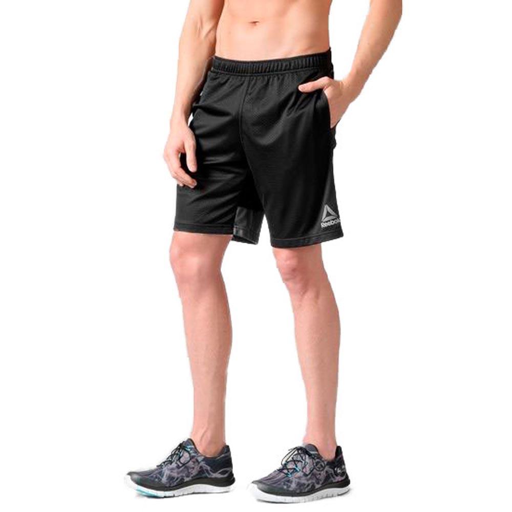 5294e852e Reebok Workout Ready Stacked Logo Mesh Short