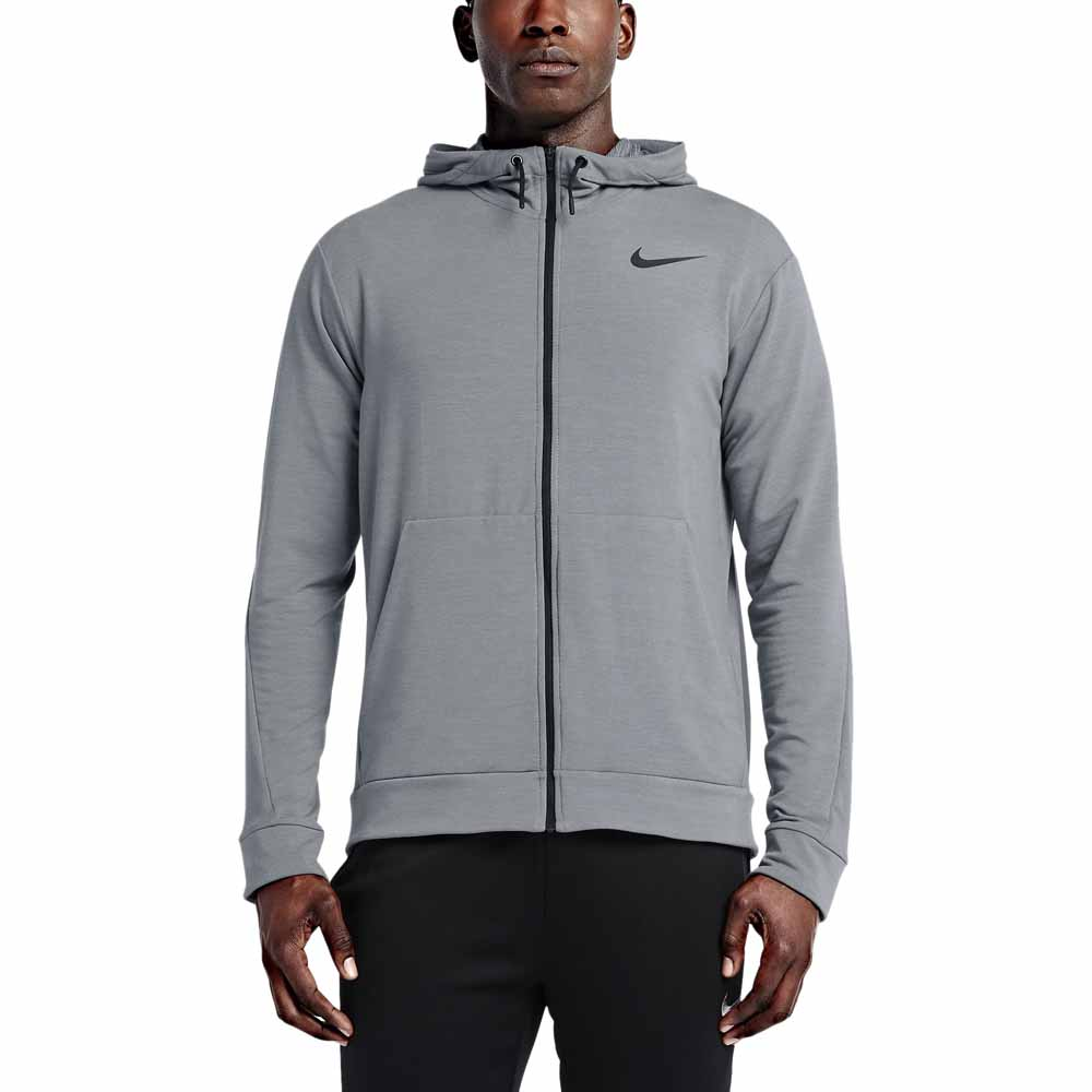 hielo Adelante Matón  Nike DriFit Training Fleece Full Zip Hoodie Grey, Traininn
