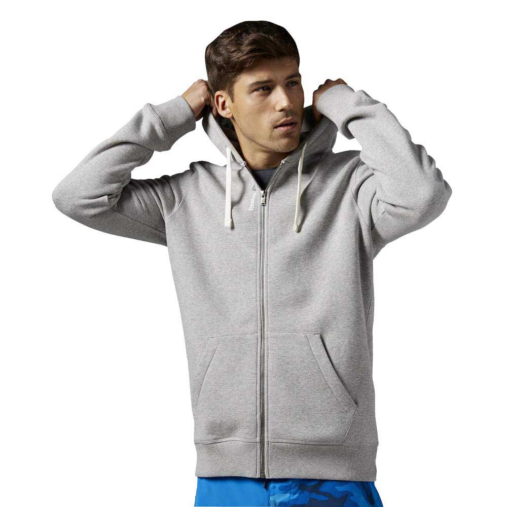 Reebok Elements Fleece Full Zip Hoodie