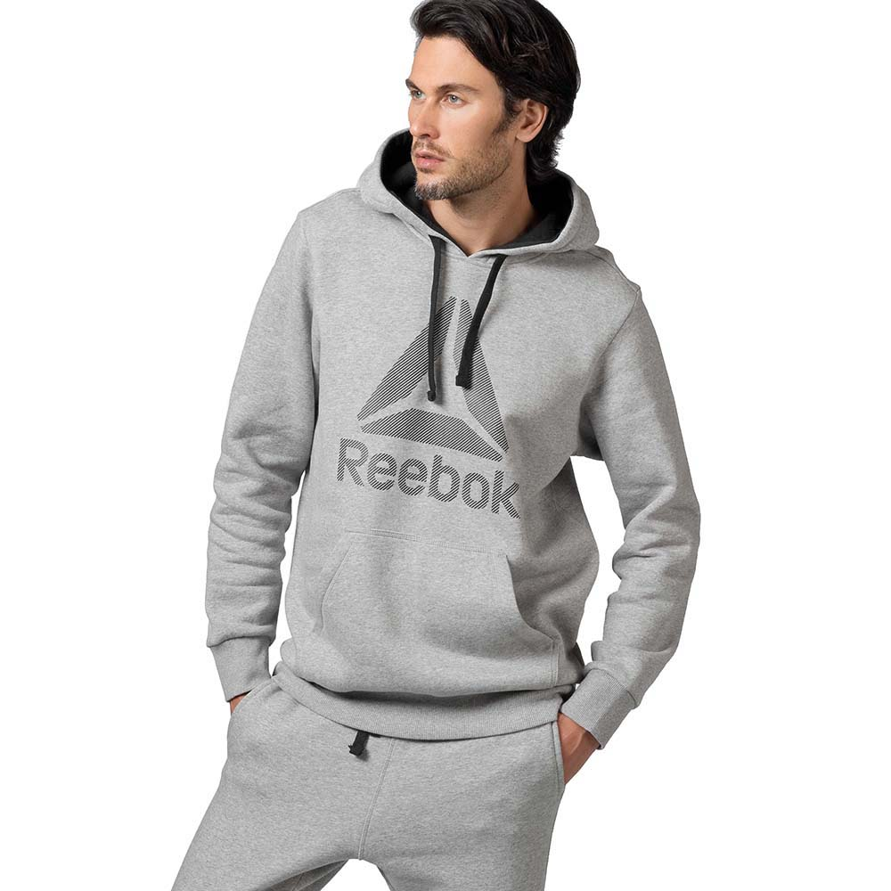 Reebok Workout Ready Big Logo Cotton Poly Hood