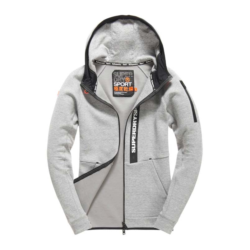 Superdry Gym Tech Panel Zip Hood