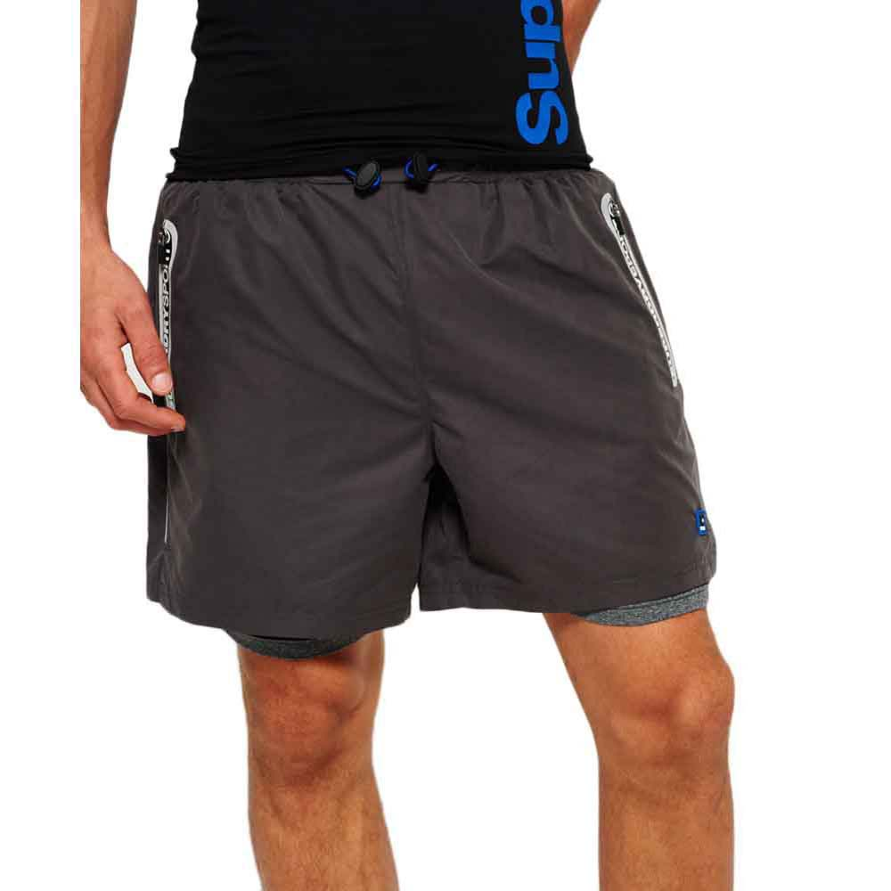 Superdry Sports Active Dbl Layer Shorts