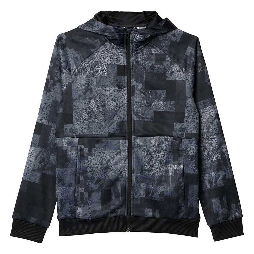 adidas Boys Climalite All Over Printed Hoodie