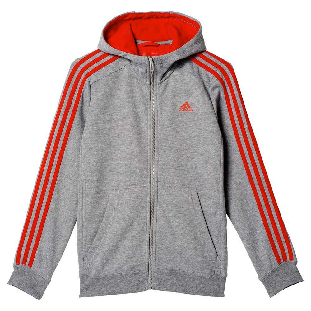 adidas Essentials 3 Stripes Brushed Hoodie