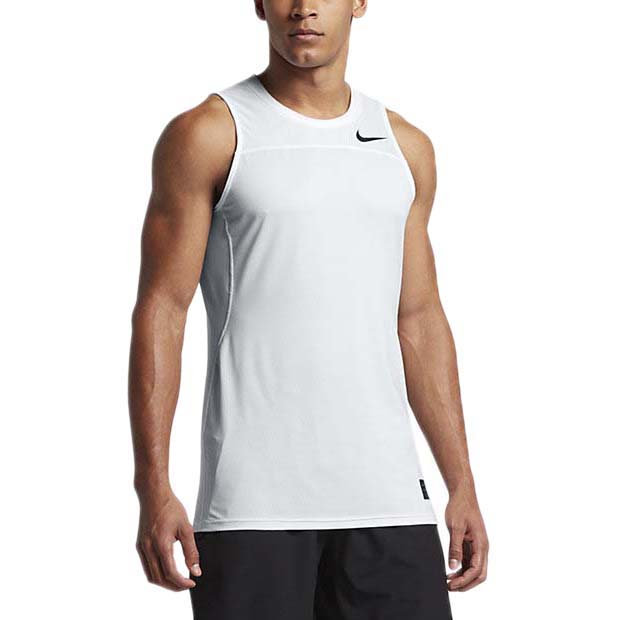 Nike Pro Hypercool Tank Fitted White