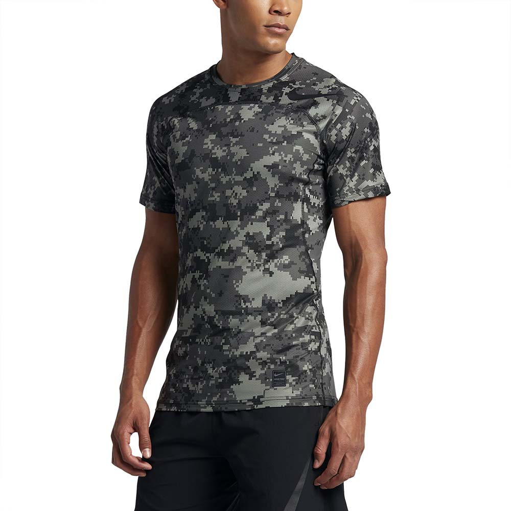 Nike Pro Hypercool S S Top Fitted Digi Camo Anfugen Und
