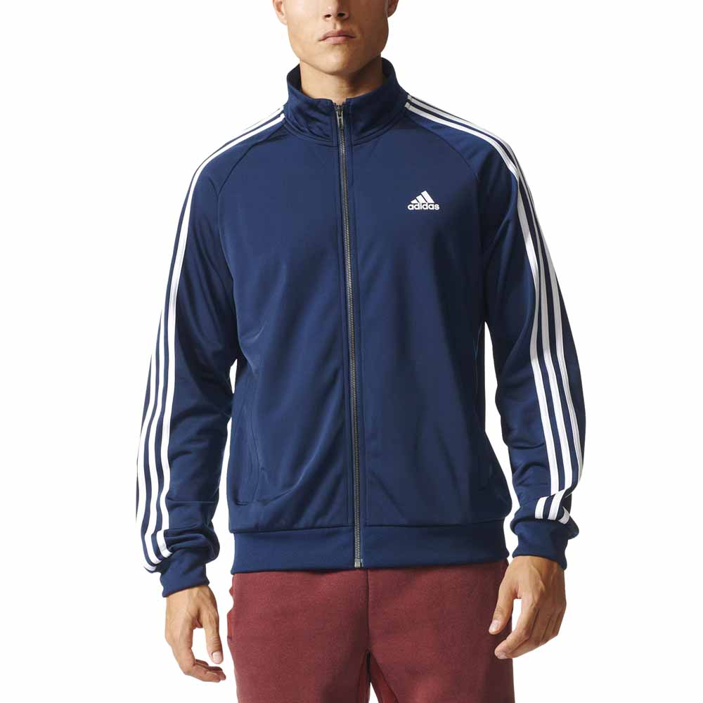adidas Essentials 3 Stripes Track Jacket Tricot Blau, Traininn