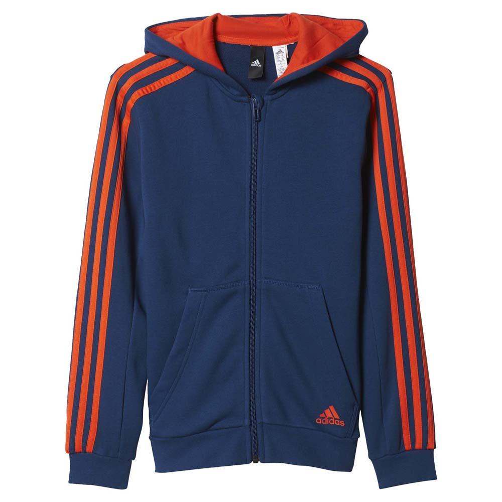 Essentials 3 HoodieTraininn Adidas Zip Full Stripes NnOvmwy80