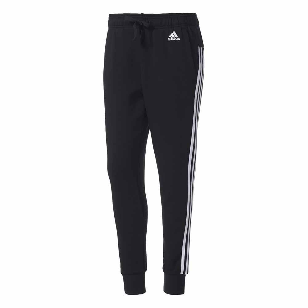 adidas Essentials 3 Stripes Tapered Pants Musta 970daef81c