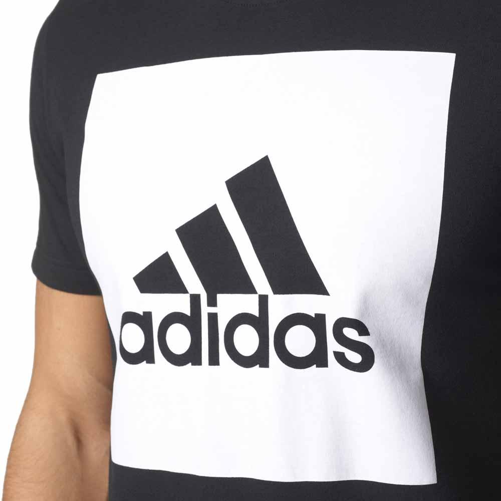 T shirt adidas Box Logo branco logótipo preto