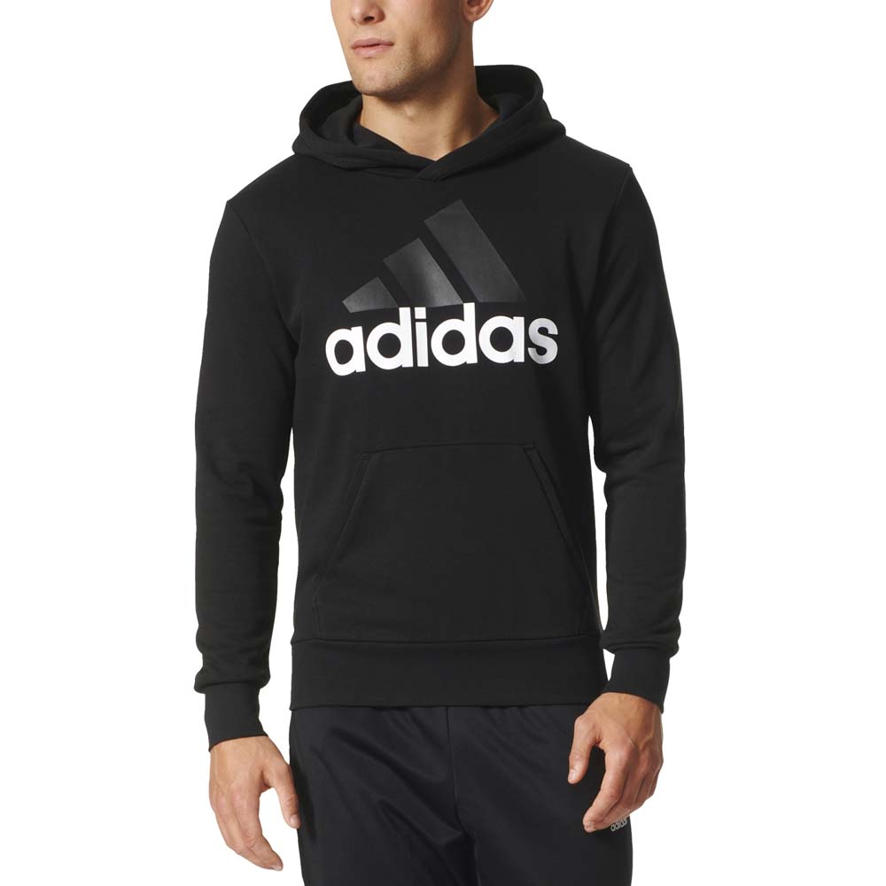adidas essentials linear pullover hood french terry buy. Black Bedroom Furniture Sets. Home Design Ideas