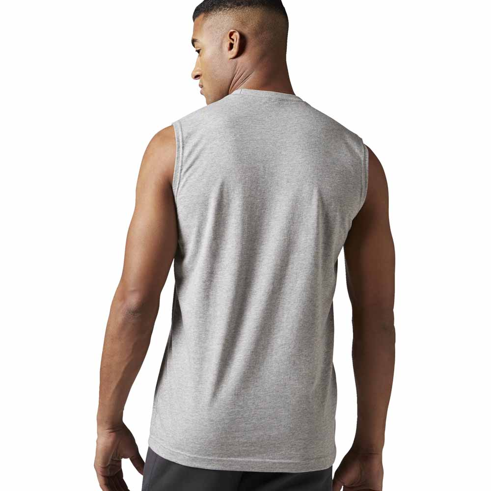 6f71e988b7e2e Reebok Elemments Stacked Logo S S Tee buy and offers on Traininn