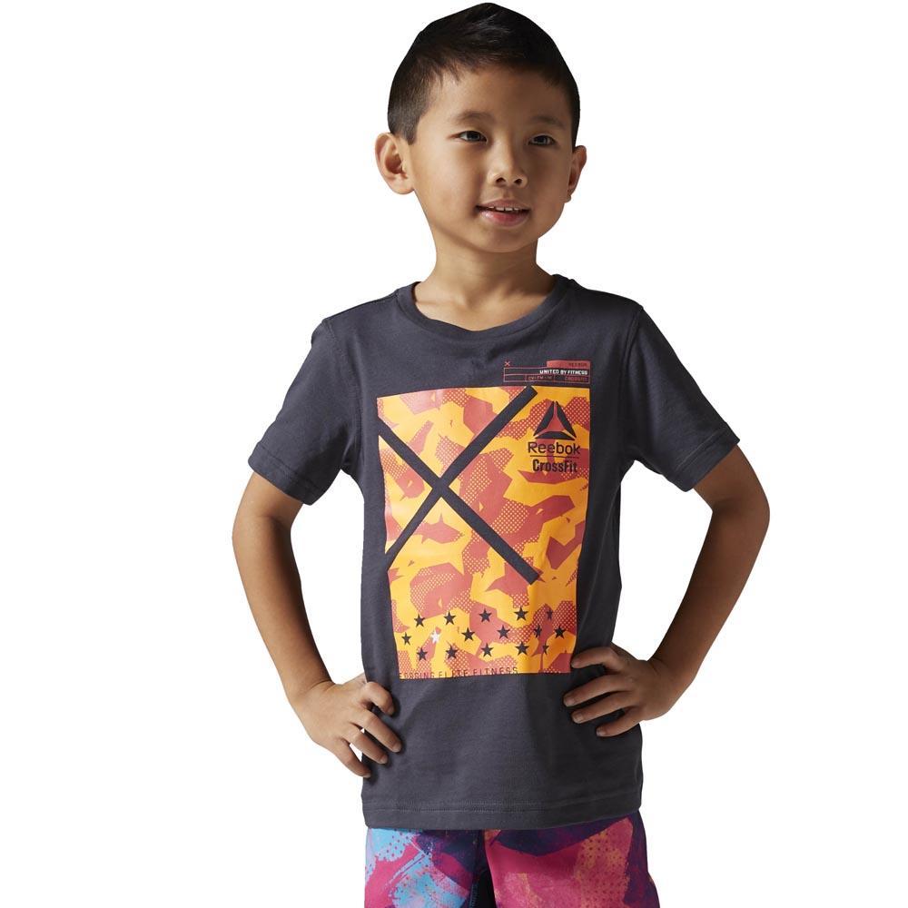 reebok boys crossfit t shirt new grey buy and offers on traininn