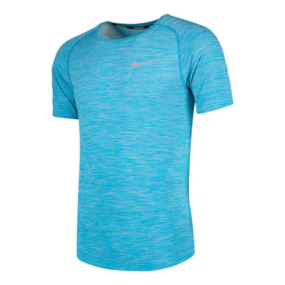 Nike Dri Fit Knit Top SS Azul comprar e ofertas na Traininn