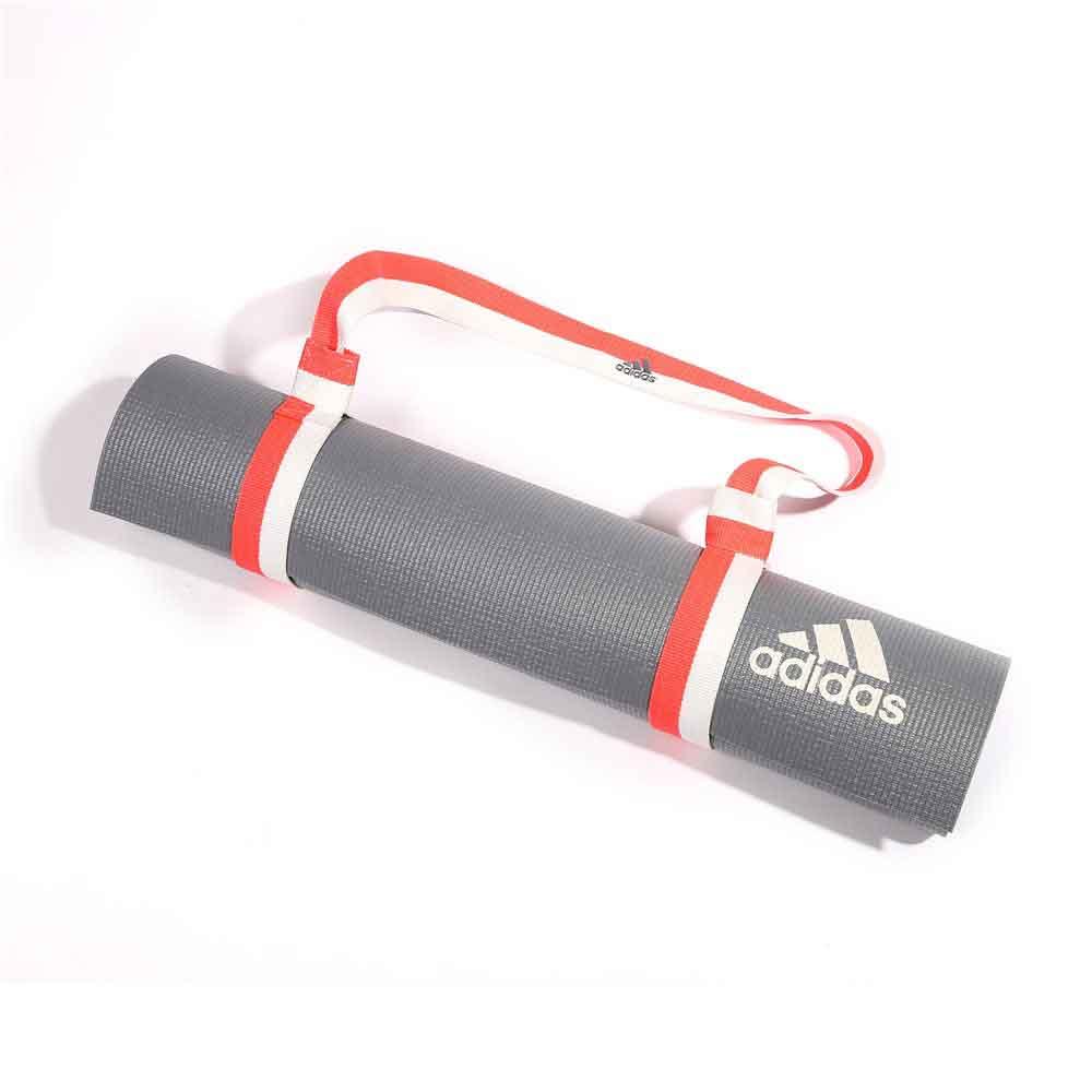mat shoulder sling carry exercise strap blue itm fitness yoga pilates adjustable