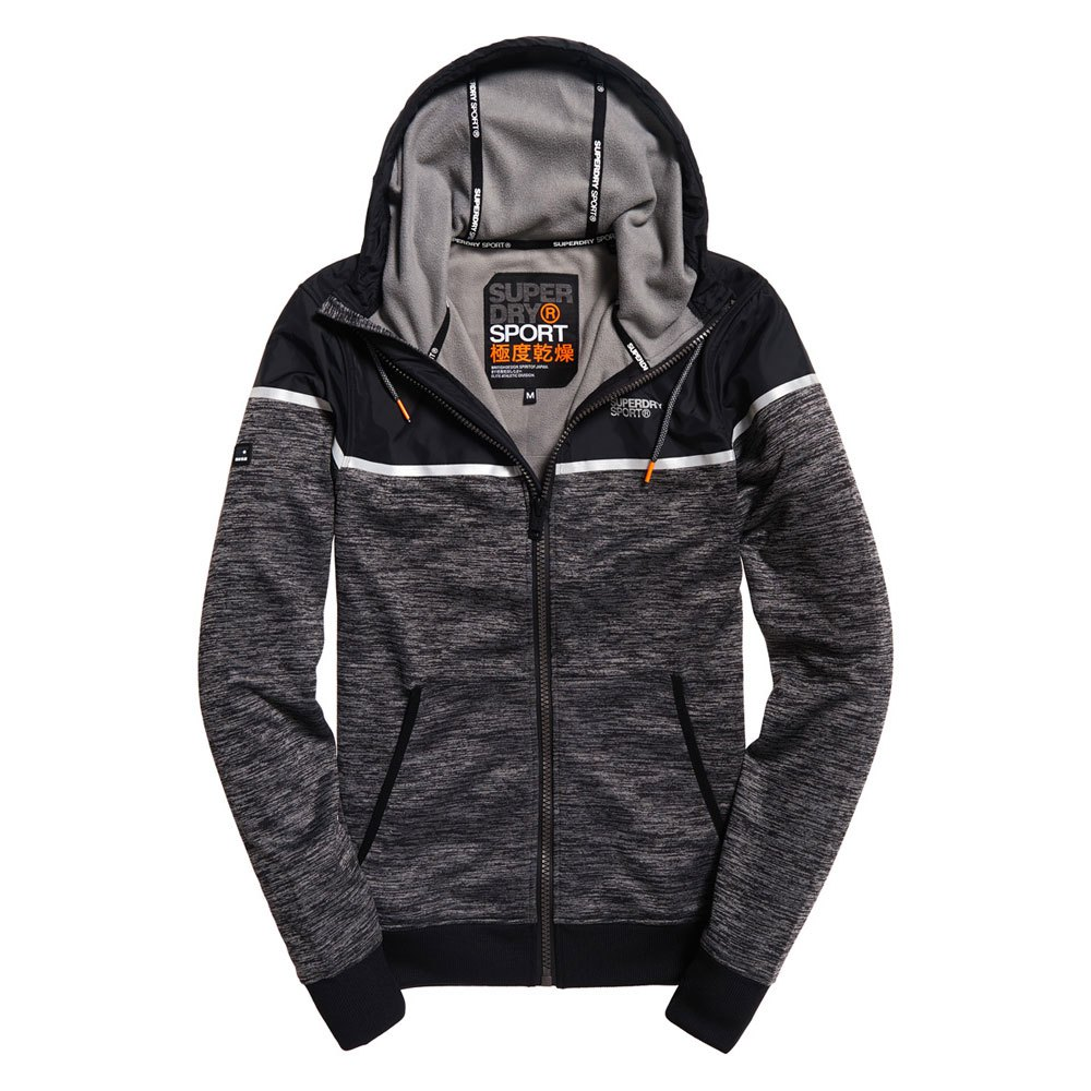 Superdry Training Hybrid Zip Thru Hood