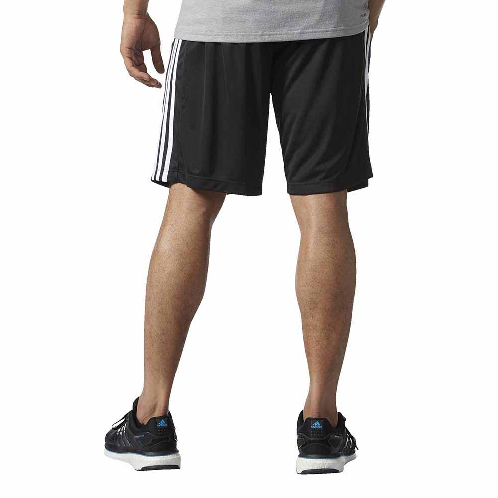 adidas D2M 3 Stripes Shorts Zwart, Traininn Broeken