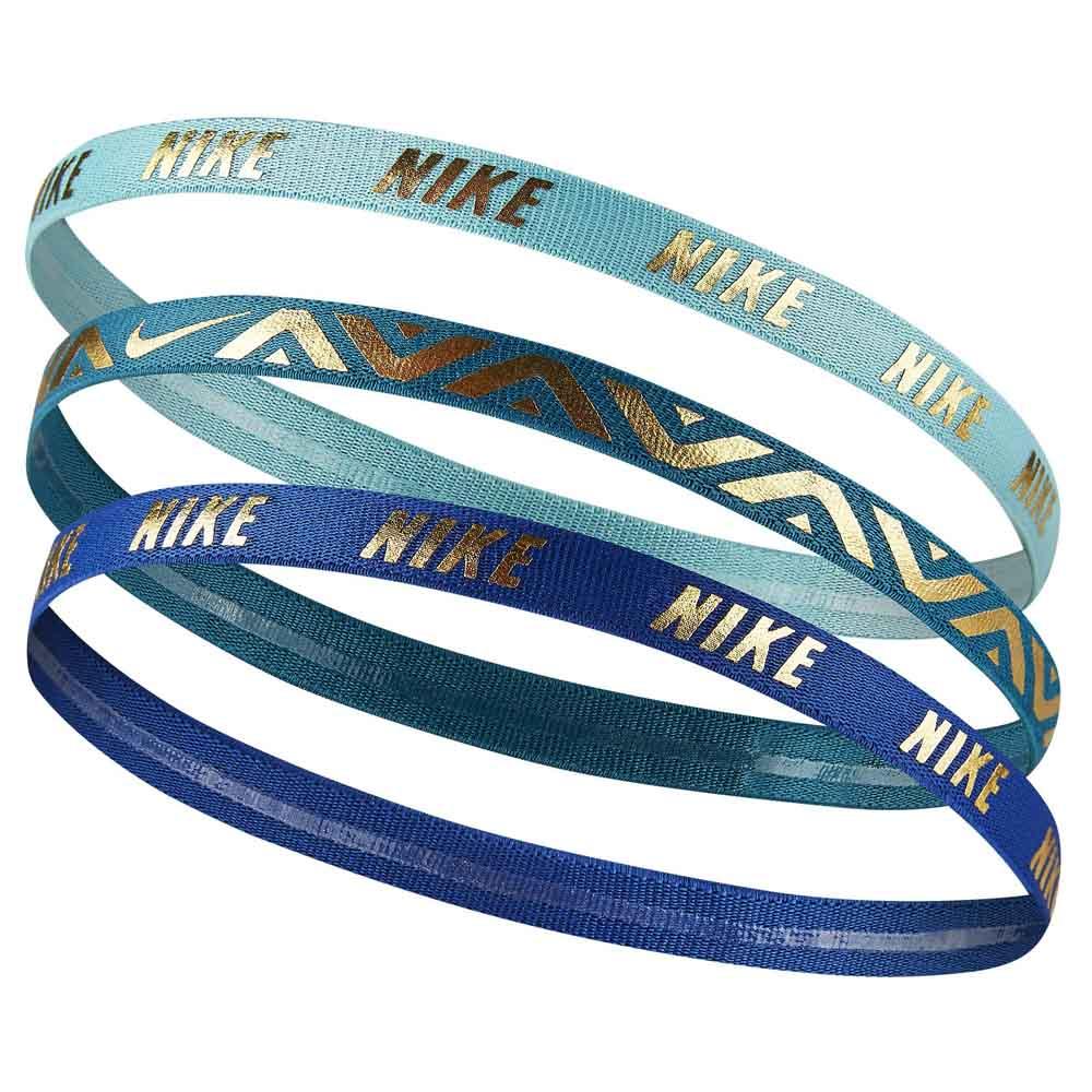 Nike accessories Metallic Hairbands 3 Units Blue 7e349b4ceb052