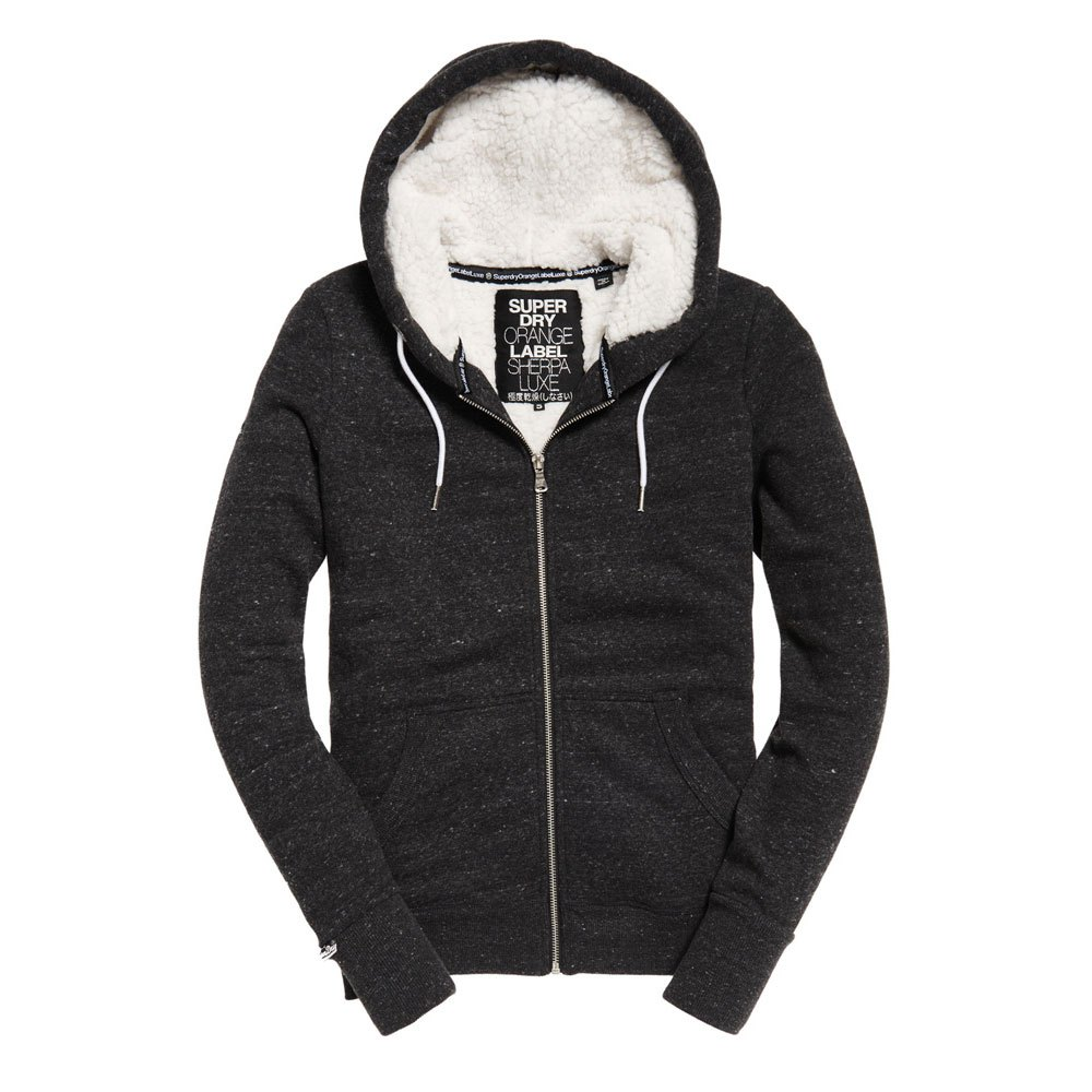 461298d3d4149 Superdry Ol Luxe Sherpa Ziphood Grey buy and offers on Traininn