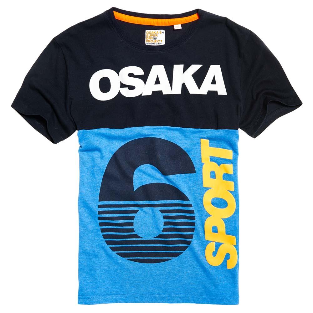 Superdry Osaka 6 Sport Panel Tee Blue buy and offers on Traininn ca8aa9fead