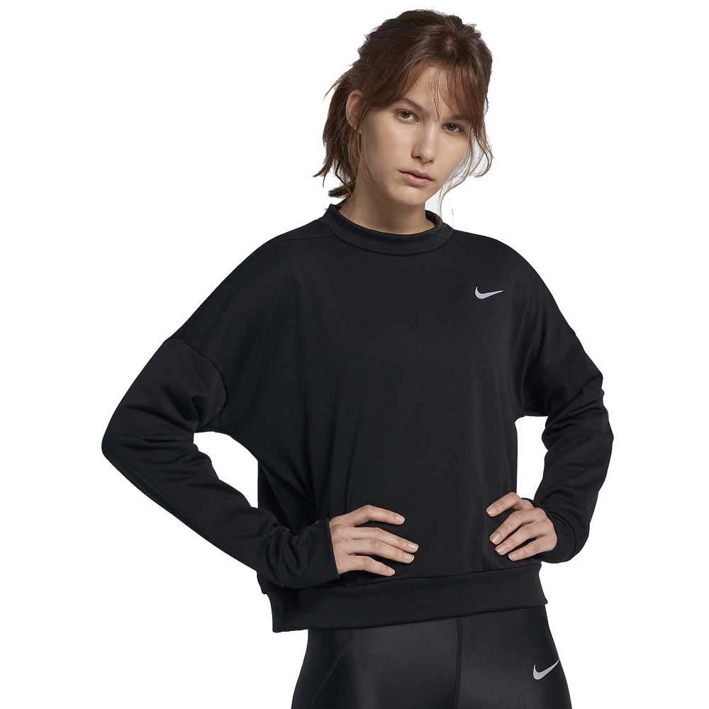 aleación Mierda Objeción  Nike Therma Sphere Element Crew Black buy and offers on Traininn