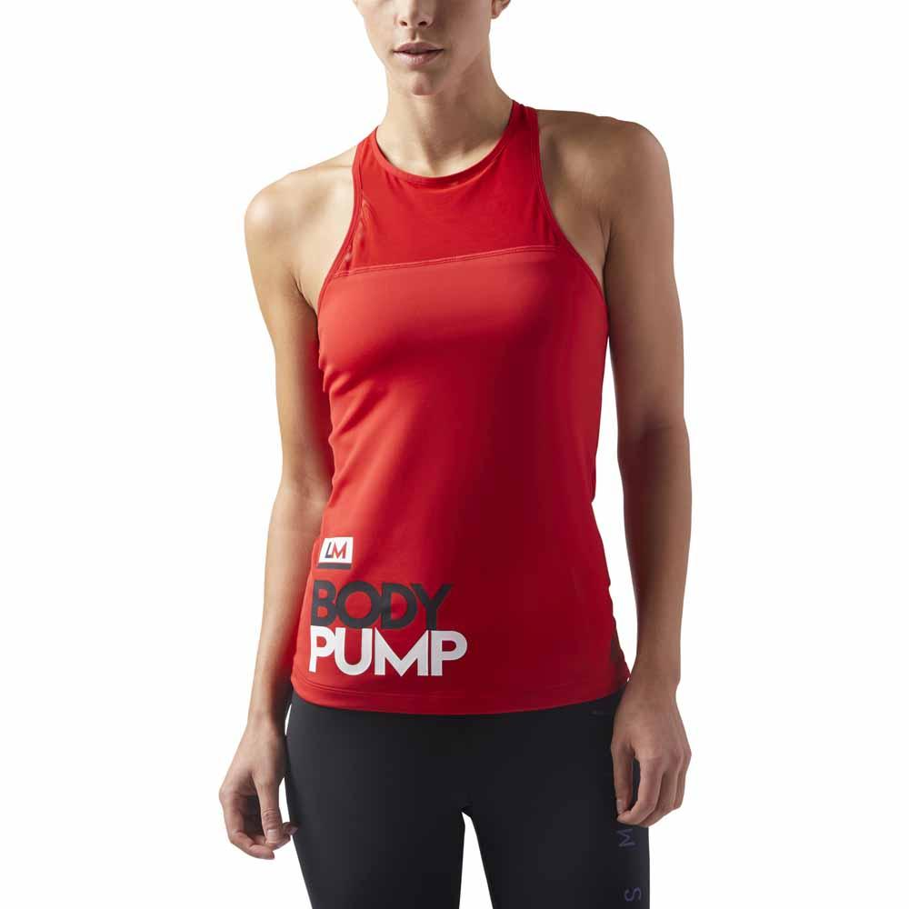 Reebok Les Mills Body Pump Speedwick Padded Long Bra Rød