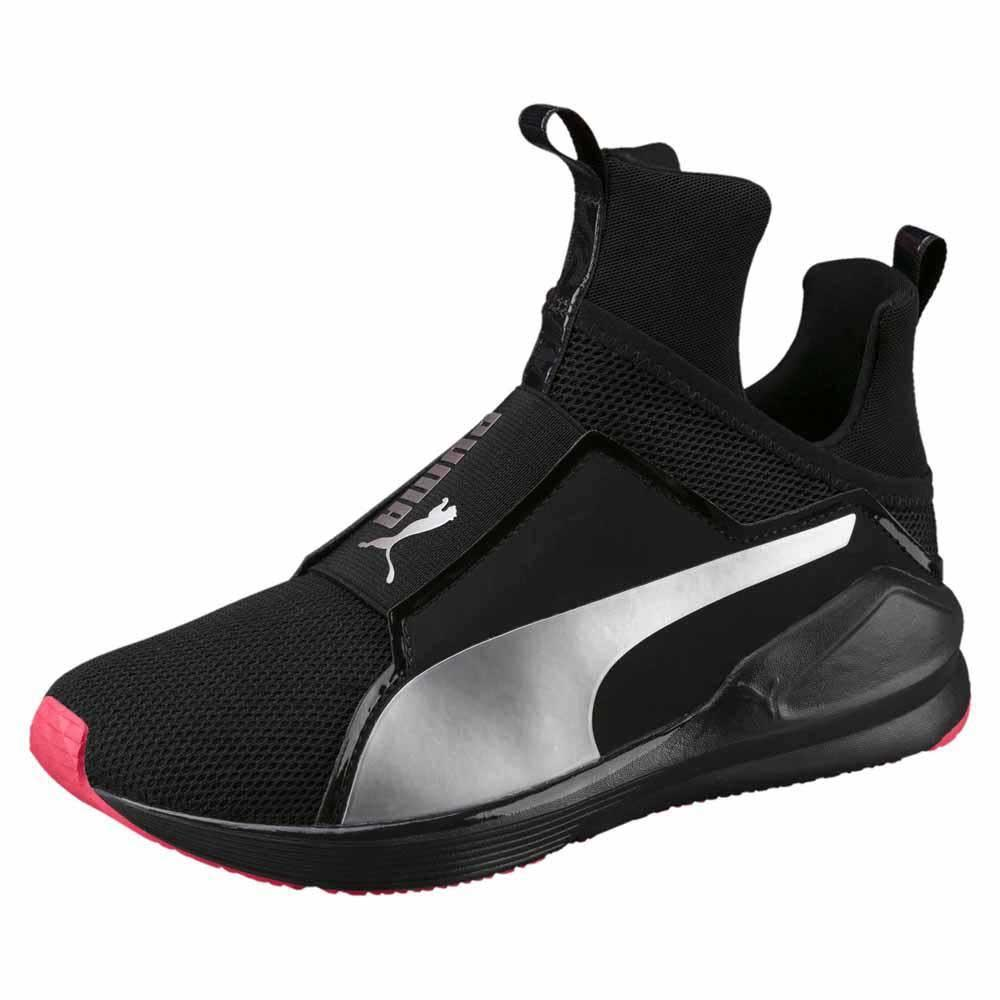 Black And Pink Gym Shoes