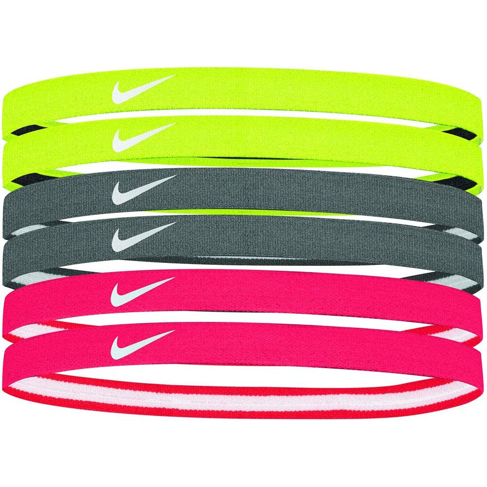 Nike Swoosh Sport Headbands 6 Pack Multi Color New