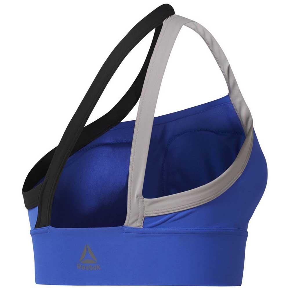 1501ae7606872 Reebok One Shoulder Padded Bra Blue buy and offers on Traininn