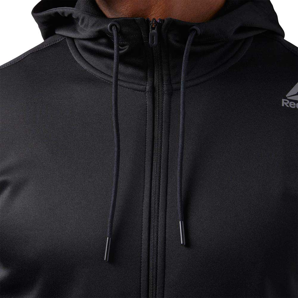 d908daa5f7 Reebok Workout Ready Elitage Full Zip Hoodie Black, Traininn