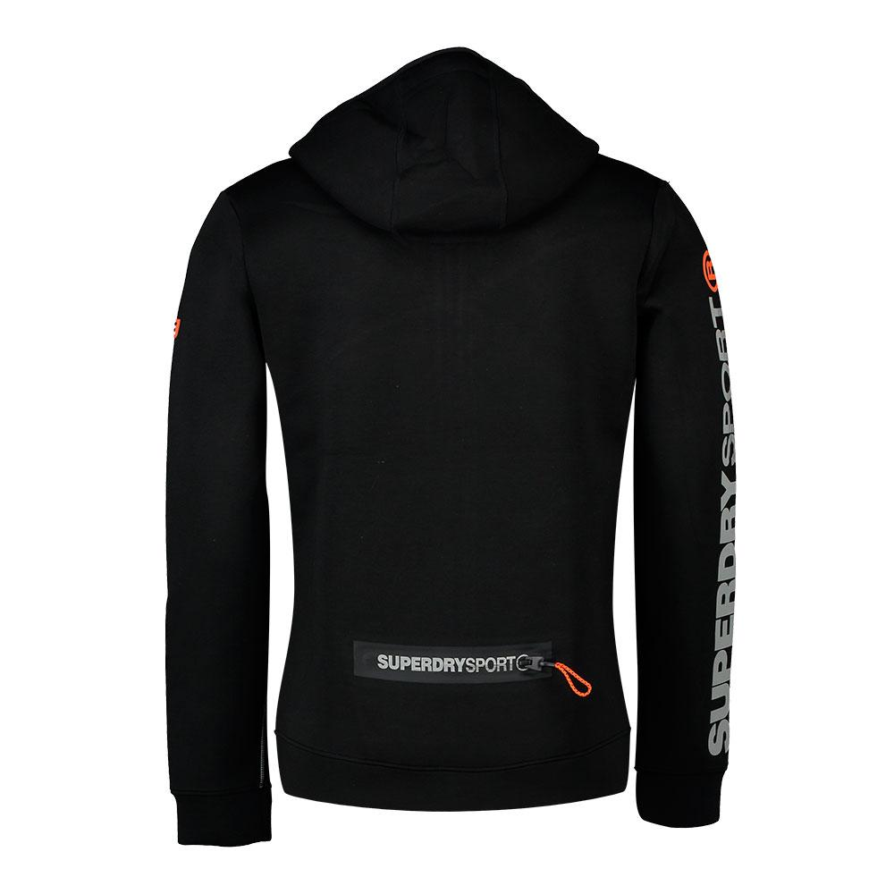 Superdry Gym Tech Spliced Ziphood Svart, Traininn