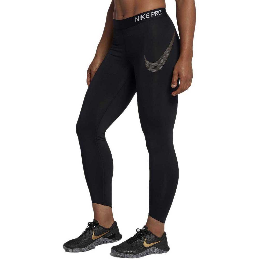 2e44a629268f9 Nike Pro Crop Metallic GRX Black buy and offers on Traininn