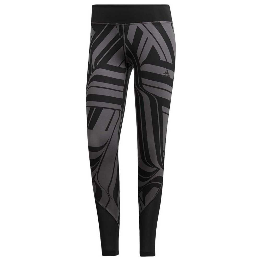 9095a83111f adidas Design 2 Move High Rise Aop Black