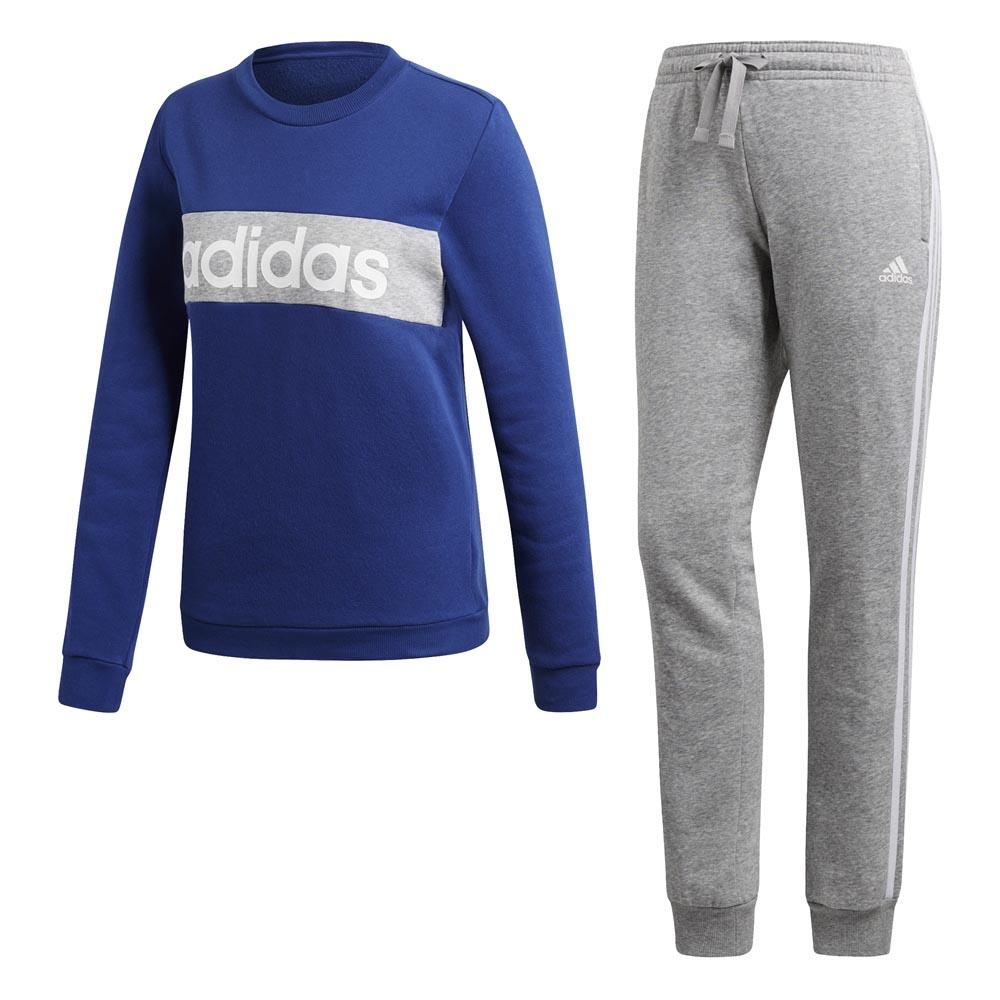 adidas Cotton Chillout Tracksuit Regular Blå, Traininn