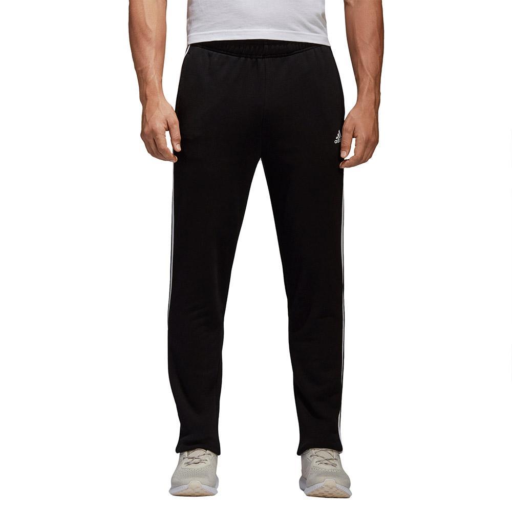adidas Essentials 3 Stripes Tapered Pants Long Musta 7513c4f467