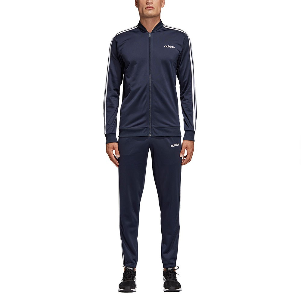 adidas Mens Essentials 3 Stripes Tracksuit